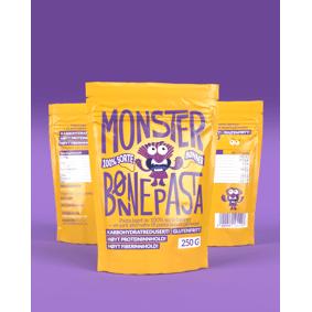 Monster Supersnacks Monster Bønnepasta 3x250g - TREPAKNING