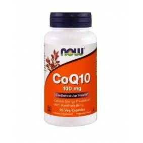 Now Foods CoQ10 100mg with Hawthorn Berry 90 Caps