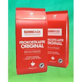 SunnRask Frokostkaffe Gourmet 2kg - PAKKETILBUD