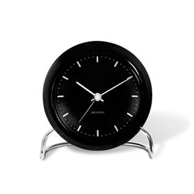 Rosendahl Arne Jacobsen City Hall bordsur, svart/svart, Ø 11 cm, alarmfunksjon