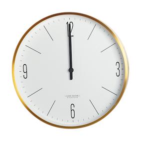 House Doctor Clock Couture Veggklokke Gull/Hvit 30 cm