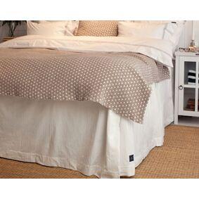 Lexington Herringbone Sengeteppe Hvit 160 x 210 x 53 cm