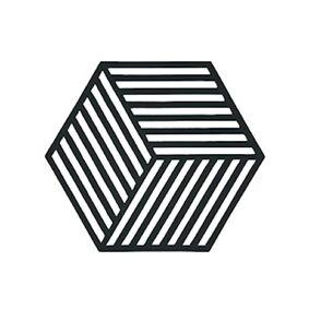 Zone Denmark Bordbrikke Black Hexagon