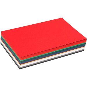 Colortime Julekartong, A6 105x148 mm, 180 g, 120 ass. ark, ass. Farger