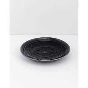 Indiska Stoneware plate   Dark grey