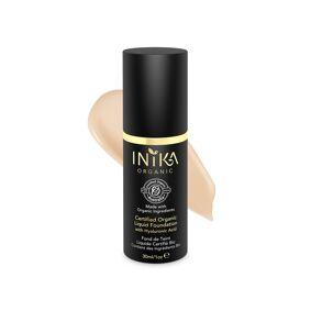 INIKA Organic Certified Liquid Foundation with Hyaluronic Acid, Nude, 30 ml