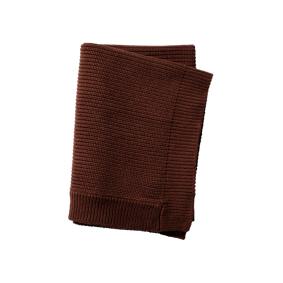 Elodie Details Wool Knitted Blanket - Chocolate