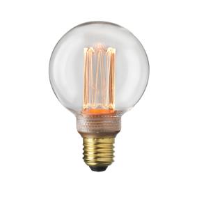 Globen lighting Lyskilde E27 Laser LED Filament Globe 80 mm Klar 3,5W