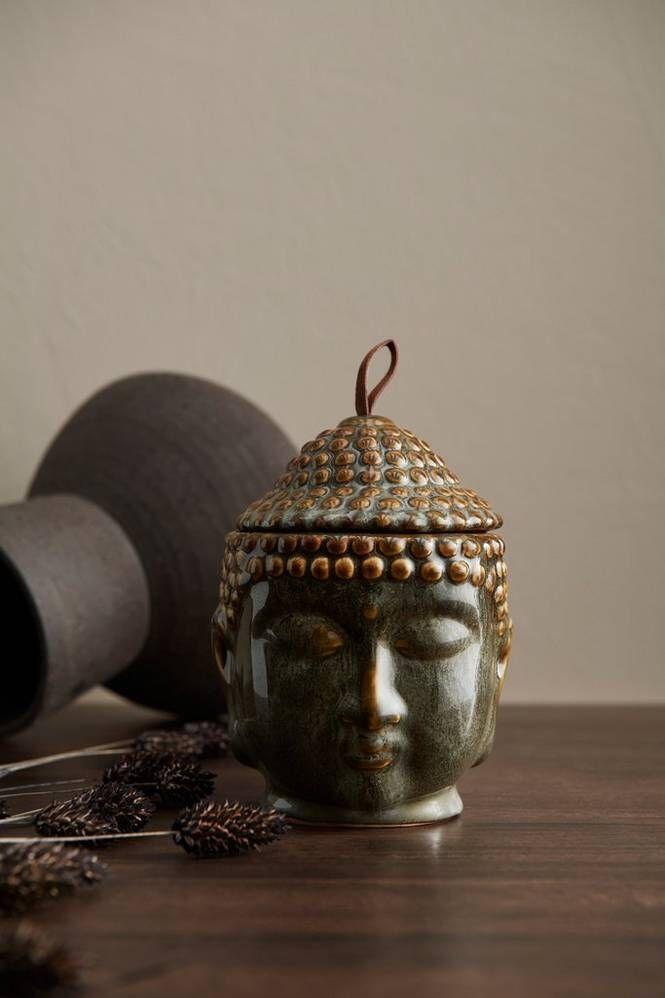 Ellos Potte / krukke Buddha med lokk