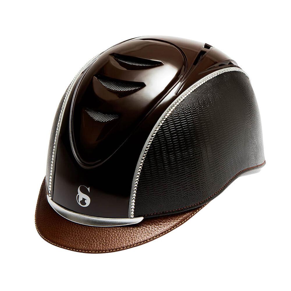 Scharf hjelm nr. 8+ shiny top + 001 crystal