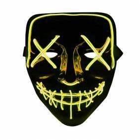 eStore The Purge LED Neon Mask, Halloween - Gul