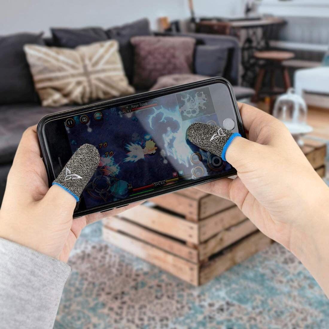 eStore 2x Fingertuppbeskyttere for Gaming - Sølvfiber