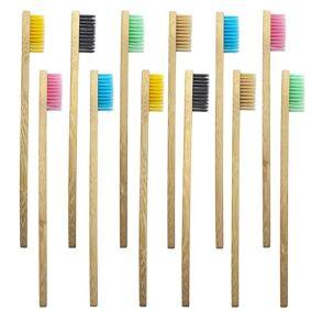 eStore 10x Tannbørste, Bambus - Blandede Farger