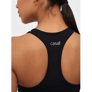 Casall Bold Rib Crop Tank Black