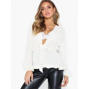 NLY Trend Shimmer Volume Blouse