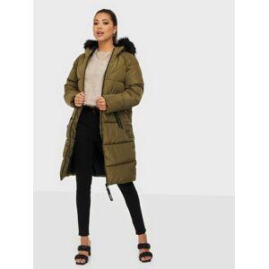 Only Onlmonica Long Puffer Coat Cc Otw Beech