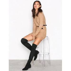 NLY Shoes Flat Thigh High Boot