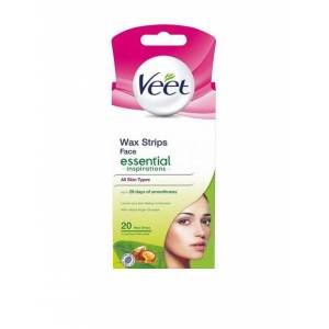 Veet Essential Strips Face 20st
