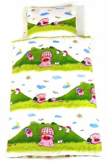 Essenza Junior sengetøy - Pink Pig - 100x140 cm