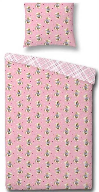 Essenza Junior sengetøy - Sweet Bears - Pink - 100x140 cm