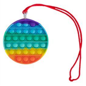 Jysk Partivarer Pop It Med Halskjede - Fidget Toys - Bubble - Rund - Regnbue