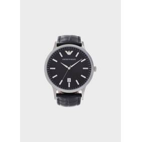 Giorgio Armani OFFICIAL STORE Leather Strap Watches  OneSize