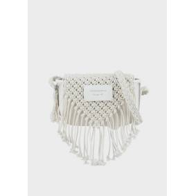 Giorgio Armani OFFICIAL STORE Fringed, crochet shoulder bag  OneSize
