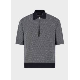 Giorgio Armani OFFICIAL STORE Classic, jersey-knit collar with micro-patterned jacquard motif  M,S,XL