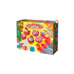 Creative SES Creative 00479, Modelleringsleire, Blå, Brun, Rød, Hvit, Barn, 11 stykker, Plastpotte, 4 farger