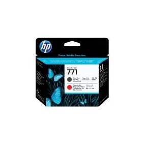 HP 771 - Matt svart, kromatisk rød - skriverhode - for DesignJet Z6200, Z6600 Production Printer, Z6800 Photo Production
