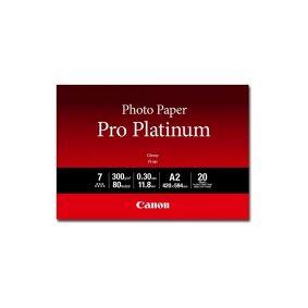 Canon Photo Paper Pro Platinum PT-101 - Glattblank - 300 mikroner - A2 (420 x 594 mm) - 300 g/m² - 20 ark fotopapir