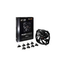 Be-Quiet! be quiet! SilentWings 3 PWM - Kabinet-blæser - 140mm - 1000 rpm - 15,5 dB - 59,5 kubikfod/min
