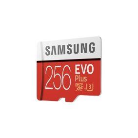 Samsung EVO Plus MB-MC256G - Flashminnekort (microSDXC til SD-adapter inkludert) - 256 GB - UHS-I U3 / Class10 - microSDXC UHS-I