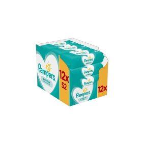 Pampers Sensitive 81687211, Våtserviett for baby, Dermatologisk testet, Allergivennlig, Nøytral pH, Fri for lukt, Uten 1 parbener