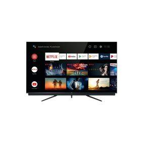 TCL 65C815 - 65 Diagonalklasse (64.5 synlig) - C815 Series LED-bakgrunnsbelyst LCD TV - QLED - Smart TV - Android TV - 4K UHD (2160p) 3840 x 2160 - HDR - Quantum Dot - børstet titanmetall