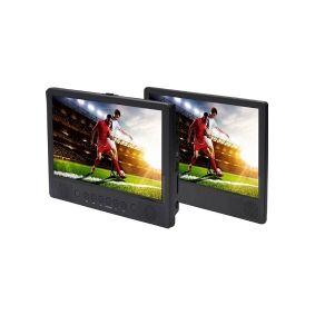 Denver MTW-1086 Nakkestøtte DVD-afspiller med 2 skærme Skærmstørrelse=25.65 cm (10.1 tommer)