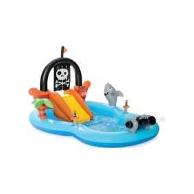Intex Pool Pirate ship with an inflatable slide