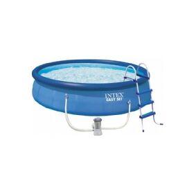 Intex Easy Set 26166NP - 457 x 107 cm - 12430L - Inkl. Pumpe, Stige, Cover & Underlag