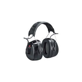 3M Peltor WorkTunes Pro HRXS220A - Hodetelefoner med radio - hodebånd - kablet - 3,5 mm jakk - svart