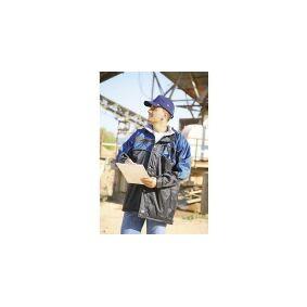 L+D Upixx Regnjakke outdoor L+D ELDEE 4226-XXXL Sort, Petrol