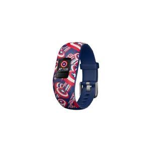 Garmin vívofit jr 2 - Marvel Captain America - aktivitetssporer med bånd - silikon - håndleddstørrelse: 130-175 mm - Bluetooth - 17.5 g