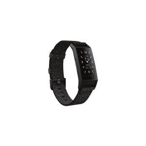 Fitbit Charge 4 - Special Edition - svart - aktivitetssporer med bånd - polyester - granittrefleksjon - wrist size: inntil 245 mm - monokrom - Bluetooth - 20 g