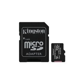 Kingston Canvas Select Plus - Flashminnekort (microSDXC til SD-adapter inkludert) - 512 GB - A1 / Video Class V30 / UHS Class 3 / Class10 - microSDXC UHS-I