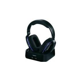 Thomson WHP3311BK TV - Wireless RF Headphones, Over-ear type with Charging station/holder, range up to 100m, Black