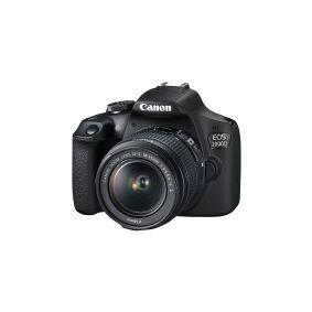 Canon EOS 2000D - Digitalkamera - SLR - 24.1 MP - APS-C - 1080 p / 30 fps - 3optisk x-zoom EF-S 18-55 mm IS II- og EF 75-300 mm III-linser - Wi-Fi, NFC