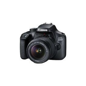 Canon EOS 4000D - Digitalkamera - SLR - 18.0 MP - APS-C - 1080 p / 30 fps - 3optisk x-zoom EF-S 18-55 mm DC III-linse - Wi-Fi - svart