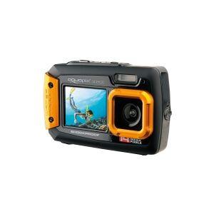 Easypix Aquapix W1400 Active - Digitalkamera - kompakt - 14.0 MP / 20.0 MP (interpolert) - under vannet inntil 3 m - oransje
