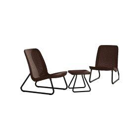 Keter Rio Patio Garden Furniture Set - Brown