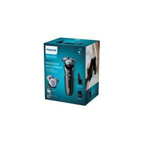 Philips S6680/26 Våd og tør elektrisk shaver med MultiPrecision-skær, Rotations shaver, MultiPrecision Blade System, Knapper, 2 År, Sort, AC/Batteri