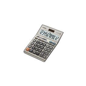 Casio Bordregner casio ms-120bm, metalgrå, 12 cifre